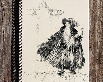 SALE - Phantom of the Opera Notebook - Sketch from the Original Costume Designer - Phantom of the Opera Costume Notebook