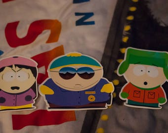 South Park Vinyl Stickers - Kyle, Wendy & Cartman