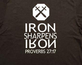 Iron Sharpens Iron Proverbs 27:17 Iron on Decal