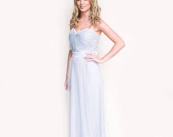 Tulle Full Length Strapless Bridesmaid/ Prom/ Party/ Evening Dress-Melody by Matchimony