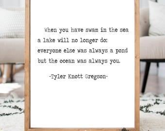 Tyler Knott Gregson Quote *READ ITEM DETAILS*