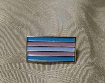 Trans Pride Flag Enamel Lapel Pin