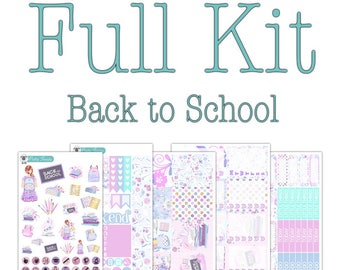 Back to School Planner Stickers Collection