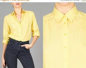 ON SALE ON Sale Vintage 70s Yellow Shirt