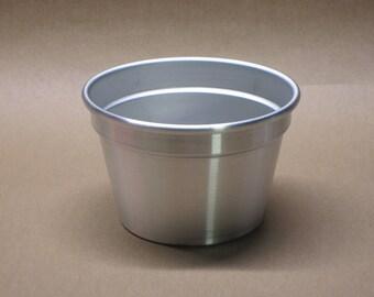 Aluminum Planter Seamless Hand Spun, Medium Size, Handmade, New, Metal Spinning,