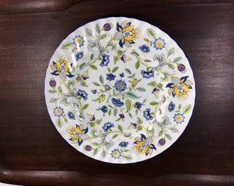 Minton Haddon Hall Blue, Minton Dinner Plate, Minton Haddon Hall Blue Dinner Plate, Bone China, Made in England