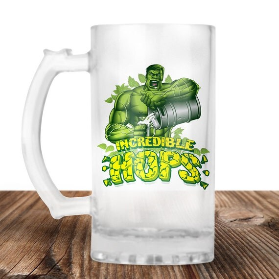 The Hulk - The Incredible Hulk - Hulk Incredible Hops! The Hulk Craft Beer Mug -Beer Mug -Beer Lover Gift -Perfect Beer Lover Gift