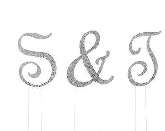 Diamond Rhinestone Cake Toppers (1) - Various Symbols - for decoration and events