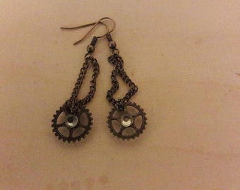 Small earrings steampunk #1