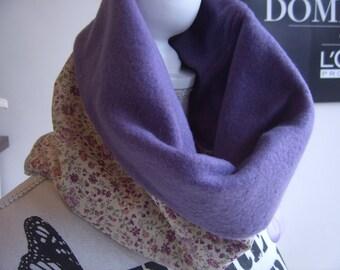Echapre Snood Liberty purple and fleece