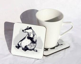 Badger Wine Coaster