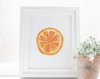 Orange Print, Orange Slice Art, Citrus Print, Wall Printable, Orange Artwork, Kitchen Wall Art, Printable Art, Digital Art, Instant Download