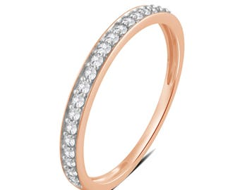 1/5 Cttw Diamond Wedding Band in 10K Rose Gold