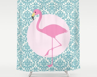 pink flamingo shower curtain shower curtain shower curtain design bath curtain bathroom - Pink Flamingo Bath Decor