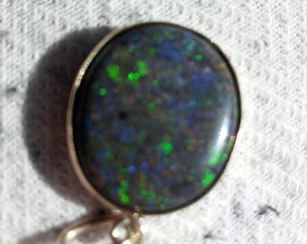 Original australische Matrix Opal vom Lighting Ridge in 333 Gold