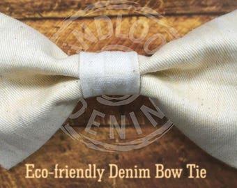 Denim Club India Exclusive Handmade Eco-friendly Handloom Denim Bow Tie