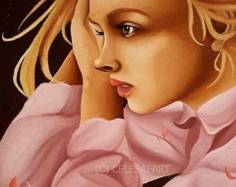 "Original Oil Painting ""I'm Lying Awake"" 25x30cm"
