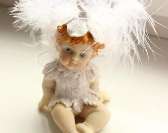 Vintage Figurine statuette ceramic angel
