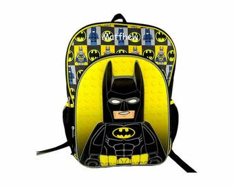 Personalized Lego Batman Backpack - 16 Inch