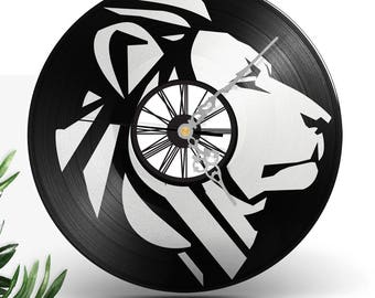 Clock records vinyl two layered black & color / / Lion Rasta Reggae