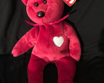 Rare Valentina beanie baby with errors