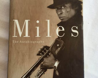 Miles Davis,Miles Davis Book,Jazz Icon,Jazz Gift,Miles Davis Gift,Jazz History,Trumpet GIft,Jazz Biography,Trumpet Book,Jazz Book,Jazz Star