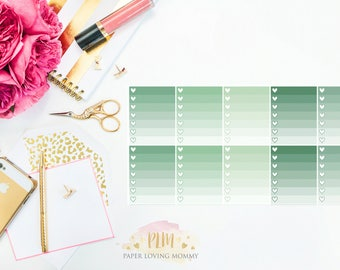 10 June Ombre Checklist Stickers | Planner Stickers designed for use with the Erin Condren Life Planner