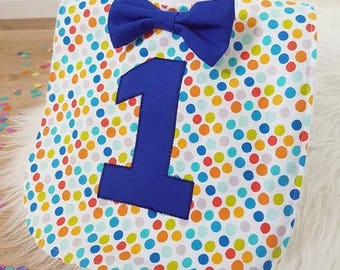 1st Birthday Bib, Handmade Bib, First Birthday Bib, Organic Bamboo Terry Bib, First Birthday Party Accessories
