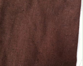 Chocolate brown linen fabric