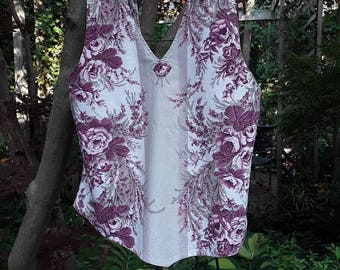 Summer halter top, boho top, gypsi top, romantic top, upclcycled clothing