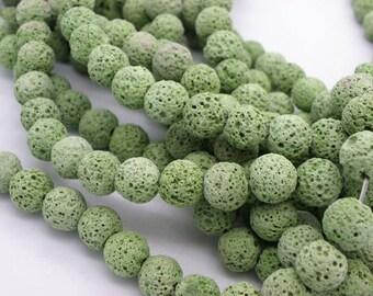 38 green 10 mm lava stones