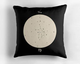 VIRGO Astrological Constellation Throw Pillow, Minimalist Zodiac Art, Home Decor