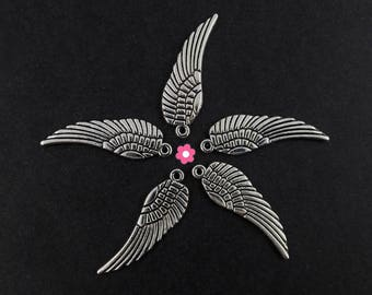 x 10 (264D) 10x30mm silver wing charm