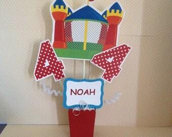 Bounce House Party Centerpiece Decoration