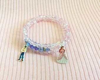 Ariel and Eric Memory Wire Bracelet