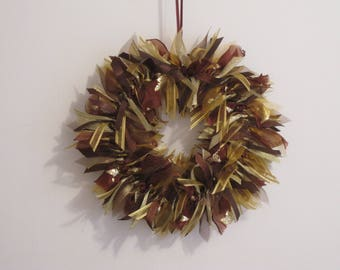 Wreath, Handmade, Christmas Wreath, Front Door Decor, Ribbon Wreath