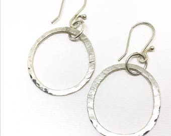 """1"""" Sterling silver hoop earrings"""