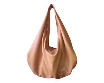 TAN - Large hobo Bag, black soft leather hobo bag, leather hobo bag, hobo bag large, black leather bag, hobo bag black, genuine, boho