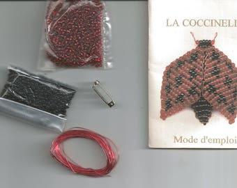 """kit brooch """"Ladybug"""" seed beads"""