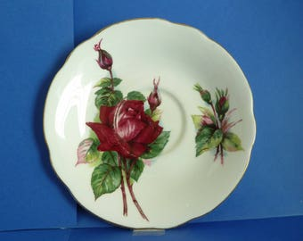 "Saucer, ""Grand Gala"", By Appointment To Her Majesty The Queen, China Potters Paragon, Fine Bone China, England Reg'd"