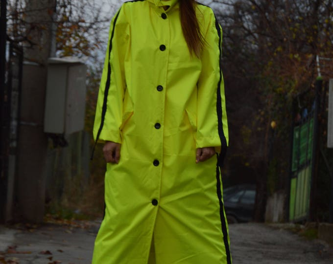 Extravagant Neon Jacket, Casual Jacket, Fashion Style, Oversize Coat, Waterproof Jacket, Sports Jacket by SSDfashion