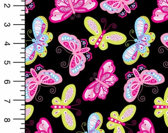 Butterfly Flutter Bamboo Spandex Knit, Butterfly Fabric, Butterfly Print Fabric, Butterfly Material Fabric, Bamboo Fabric, Bamboo Material