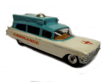 1960s Vintage Corgi 437 Superior Ambulance Toy Collectible Made in England