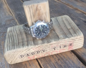 Personalised Reclaimed Timber Watch Stand