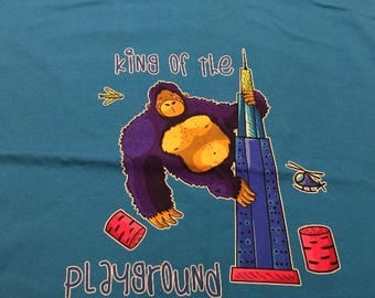 King Kong King of the Playground Monster Panel  Limited Edition Custom printed fabric Cotton Lycra 95/5