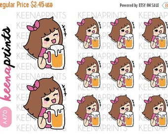 15% OFF A470 | BEER Drinking Keenachi Repositionable Stickers Perfect for Erin Condren Life Planner, Filofax, Plum Paper & other planner or