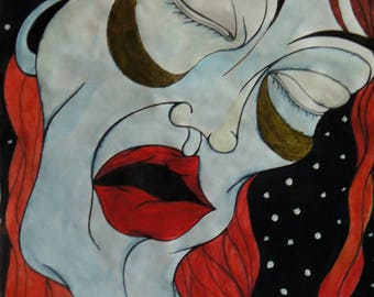 Despair painting A3