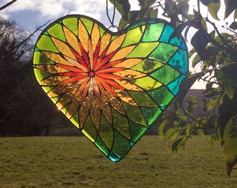 Stained Glass Mosaic Heart