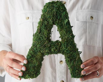 Moss Letter, Rustic Wedding, Woodland Wedding, Rustic Letters, wedding gift, Woodland decor, grass letters, rustic home, country home