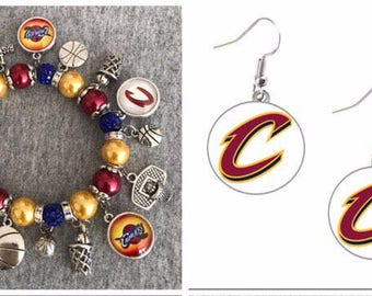 Cleveland Cavaliers Bracelet and Earring set